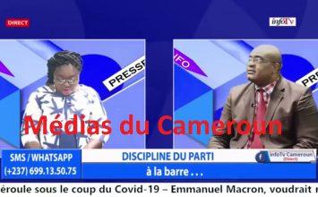InfoTV – INFO PRESSE – (RDPC : DISCIPLINE du PARTI – KAMTO : APPEL à l'INSURRECTION) – 30 Août 2020