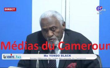 La Vérité en Face – Invité: YONDO BLACK, Ancien Bâtonnier – Dimanche 18 Octobre 2020